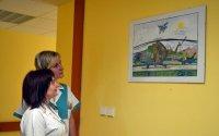 Chodby Nemocnice Podlesí krášlí kresby talentovaného handicapovaného kreslíře Miroslava Konderly